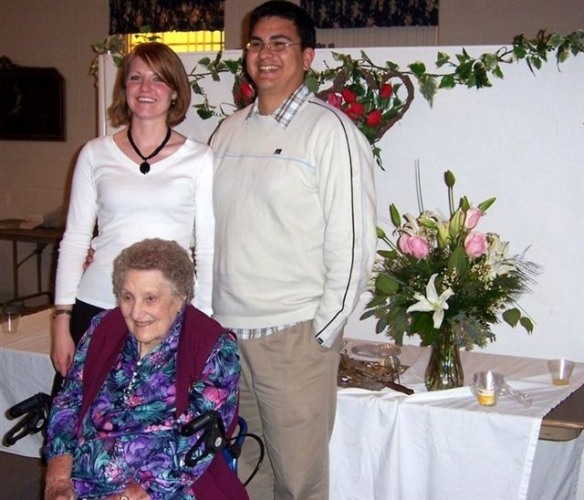 At her 90th Birthday Party last year